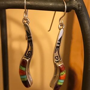 Sterling silver earrings with beautiful stones.
